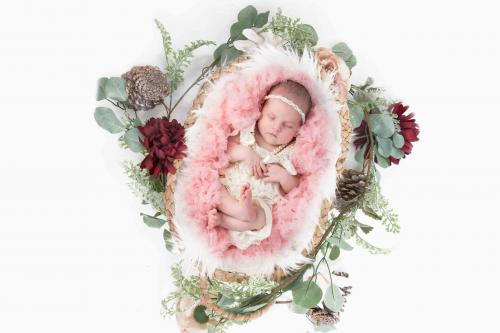 Newborn Flower basket
