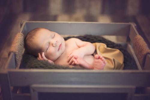 Rustic cradle baby boy