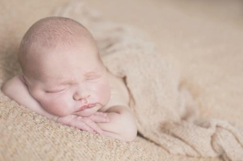 light and airy newborn photo